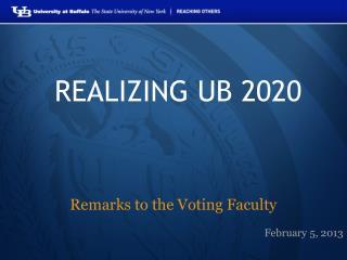 REALIZING UB 2020