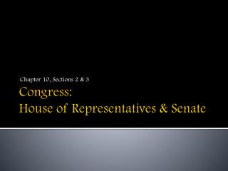 Congress:  House of Representatives & Senate