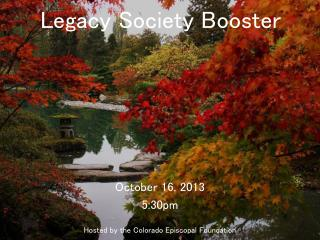 Legacy Society Booster