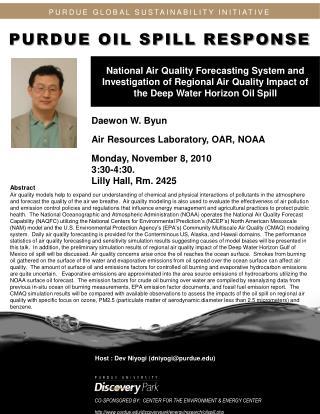 Daewon  W.  Byun Air Resources Laboratory, OAR, NOAA Monday , November 8, 2010  3:30-4:30.