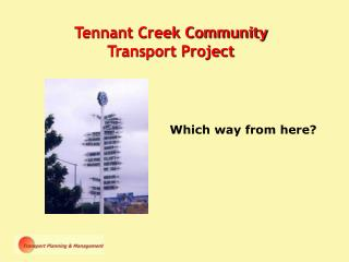 Tennant Creek Community Transport Project