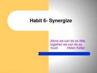 Habit 6- Synergize