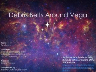 Debris Belts Around Vega