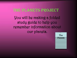 The Planets Project