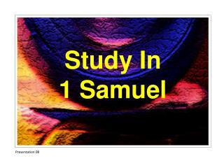 Study In 1 Samuel