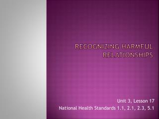 Recognizing harmful relationships