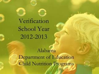 Verification School Year 2012-2013