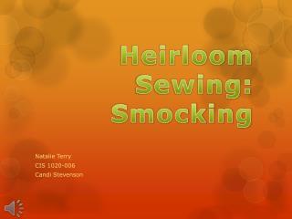 Heirloom Sewing: Smocking