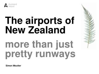 The airports of New Zealand more than just  pretty runways  Simon Moutter