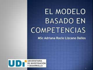 EL MODELO BASADO EN COMPETENCIAS