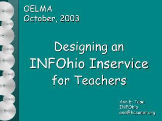 OELMA October, 2003