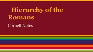 Hierarchy of the Romans