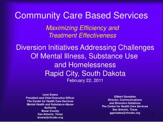 Community Care Based Services