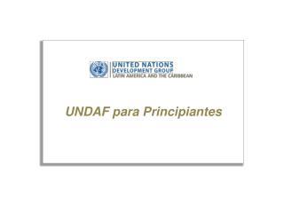 UNDAF para Principiantes