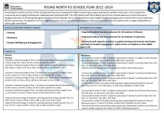 YOUNG NORTH P.S SCHOOL  PLAN 2012 -2014
