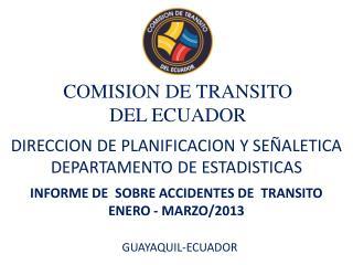 COMISION DE TRANSITO  DEL ECUADOR
