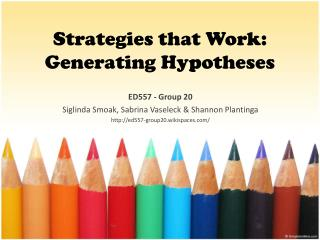 Strategies that Work: Generating Hypotheses