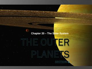 The Outer Planets Section 4
