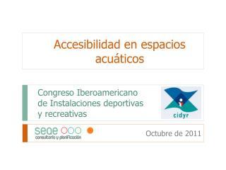 Congreso Iberoamericano  de Instalaciones deportivas  y recreativas