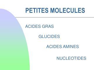PETITES MOLECULES