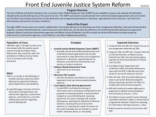 Front End Juvenile Justice System Reform