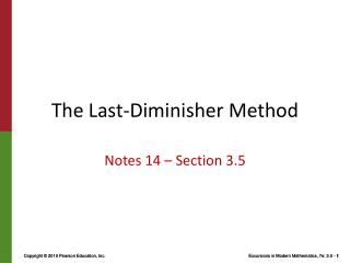 The Last- Diminisher  Method