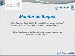 Monitor de  Sequía