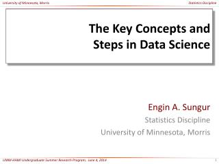 The Key Concepts and  Steps  in Data Science