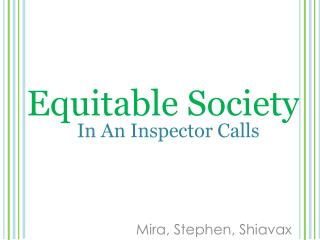 Equitable Society