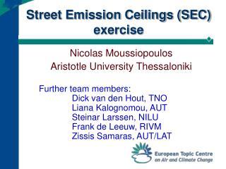 Street Emission Ceilings SEC exercise