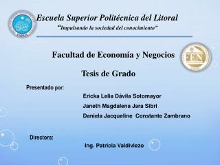 """Escuela Superior Politécnica del Litoral """" Impulsando la sociedad del conocimiento"""""""