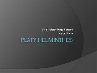 Platy helminthes