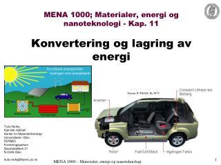 MENA 1000; Materialer, energi og nanoteknologi - Kap. 11 Konvertering og lagring av energi