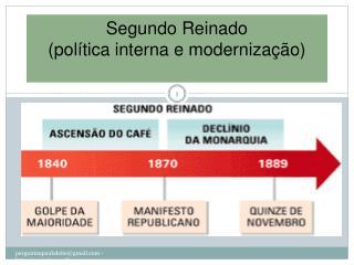 Segundo Reinado (política interna e modernização)