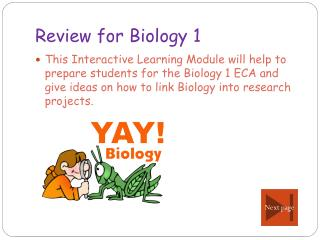 Review for Biology 1
