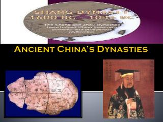 Ancient China's Dynasties