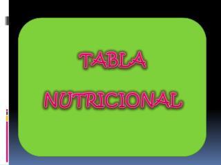 TABLA  NUTRICIONAL