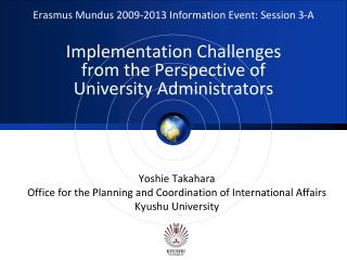 Yoshie Takahara Office for the Planning and Coordination of International Affairs