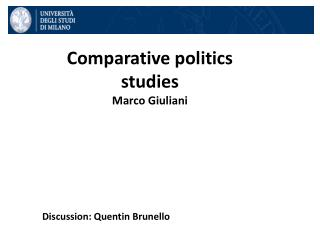 Comparative politics studies  Marco Giuliani