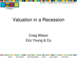 Valuation in a Recession
