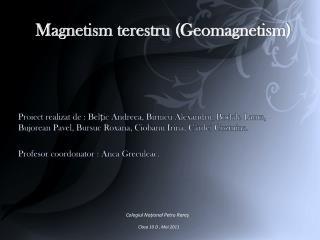 Magnetism terestru (Geomagnetism)
