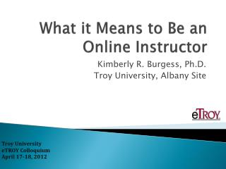 What it Means to Be an Online Instructor