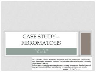 Case Study –  Fibromatosis