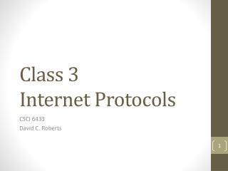 Class 3 Internet Protocols