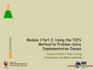 Module 1 Part 2:  Using the TIPS Method to Problem-Solve Implementation Issues