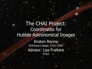 The CHAI Project: Coordinates for  Hubble Astronomical Images