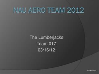 NAU AERO TEAM 2012