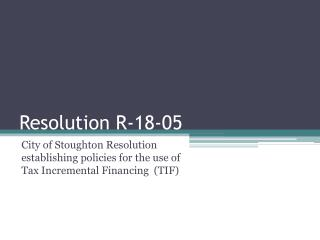 Resolution R-18-05