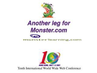 Another leg for Monster Tenth International World Wide ...