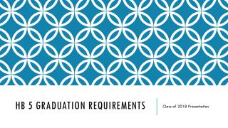 HB 5 Graduation Requirements